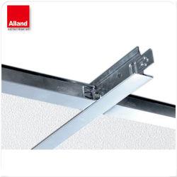 China la mejor calidad falso techo de acero galvanizado blanco T cuadrícula con precio de fábrica