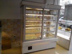 acier inoxydable réfrigérateur Commercial vitrine à gâteaux Gâteau de refroidissement du ventilateur du refroidisseur