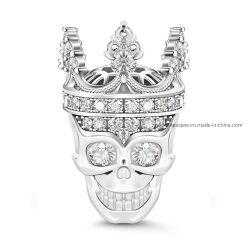 Mode bijoux 925 Sterling Silver ou en laiton et de perles Bijoux charmes du crâne