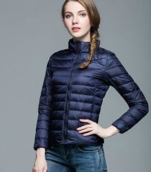 Les femmes Packable léger à manchon long Puffer Down Jacket