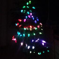 屋外100Lは白い球根のクリスマスの装飾LEDストリングライトを暖める