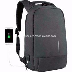 Antirrobo de la moda al por mayor puerto de carga USB portátil al aire libre de la Escuela de Negocios Bolsa Mochila iPad