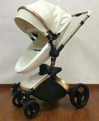 Hoher Landschaftsleder-Baby-Spaziergängerfaltender Säuglingspram karrt Kinderwagen