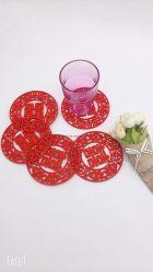 Novos Produtos sentida Placemat de mesa Tapete de feltro do Nepal sentida Coasters (jp-FB008)
