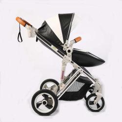 Poussette de bébé de luxe 3 en 1 de la PRAM poussette pliable&siège de voiture