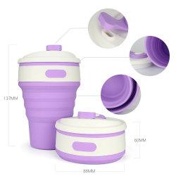 Nouveau design de gros réutilisables en silicone de tasse de café pliable de pliage de voyage (ESG10298)