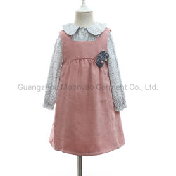 De Blouse van het Overhemd van de Plaid van meisjes met Sleeveless Deux-pièces van de Kleding voor de In het groot Kleren van het Jonge geitje