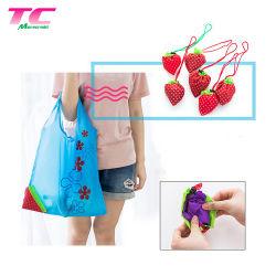 Pochette de pliage de fraises de stockage des sacs d'épicerie pratique pour le shopping sac fourre-tout