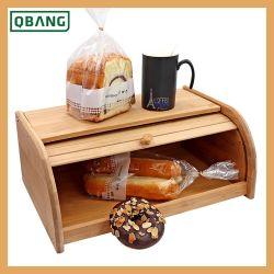 Parte superiore di rullo inferiore di bambù di legno del contenitore di memoria dell'alimento della cucina del contenitore di pane Breadbox