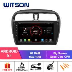 Witson Android 9.1 Auto Radio lecteur de DVD de voiture pour Mitsubishi Mirage 2012