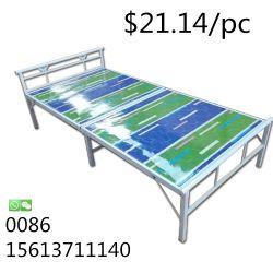 Tumbonas moderna cama de metal plegables con protector solar para la cama al aire libre