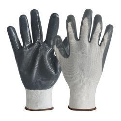 Polyester-Zwischenlage-Nitril-überzogene preiswerte Arbeits-Sicherheits-Handschuhe des China-Lieferanten-Schutz-wei?es Grau-13G