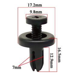 100PCS de automatische Binnenlandse Klinknagels van de Schroef van de Uitbreiding van de Duw Plastic voor het Gat van 10 mm