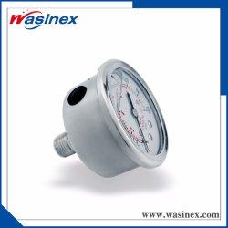Indicateur de pression de l'eau d'acier inoxydable/manomètre remplis d'huile