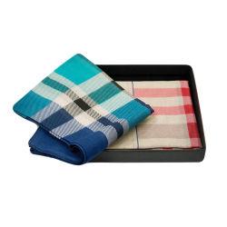 Commerce de gros 100% coton mouchoir de poche d'hommes doux, estampillage privé mouchoir
