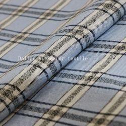 リネン綿は標準的なヤーンによって染められた格子縞のシャツの衣類ファブリックを混合した