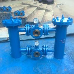 Edelstahl Duplex Korbsieb mit T-Stück Kugelventil für Industriewasser