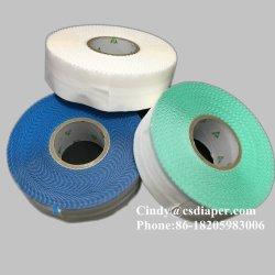 L'érythème Crochet et boucle velcro matériau brut de bande latérale