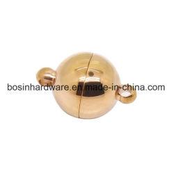 Rosen-GoldEdelstahl-Kugel-magnetischer Haken für ledernes Armband