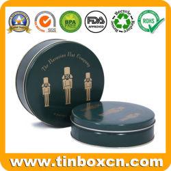 Boîte d'emballage alimentaire métalliques personnalisées Ecrous ronds cadeau Cas d'étain