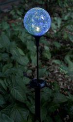 Solar-LED-Garten-Licht mit Crack Glaskugel