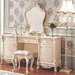 Tabella dell'apprettatrice di legno solido con vestire feci per la mobilia della camera da letto