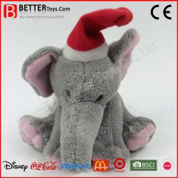 クリスマス象のプラシ天の柔らかいおもちゃのぬいぐるみ