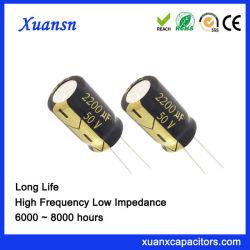 Utilisé pour la lampe solaire condensateur électrolytique 2200UF50V 8000 heures