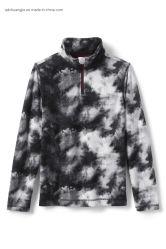 الأطفال الأطفال الطوق العالي من قماش Fleece Zipper up Polar Fleece غير الرسمي فصل الشتاء مكافحة السلب اللوائح قطع تخصيص الفتيات سترة