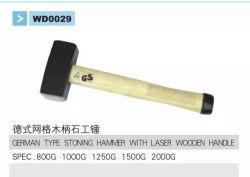 レーザーの木のハンドルWd0029が付いているハンマーに投石するドイツのタイプ