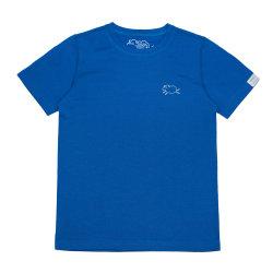 양은 100% 메리노 양모 모직 아이의 t-셔츠를 달린다
