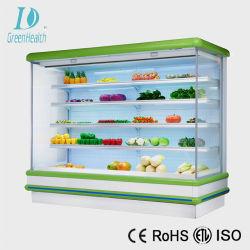 Green&Health Supermarkt-Handelsgetränkefrucht-Gemüse-Bildschirmanzeige gekühlter Schaukasten