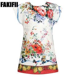 2019 Brand bela flor vestidos de menina de padrão de desgaste da mola para crianças