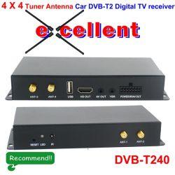 DVB-T240 de 4 X 4 Siano Coche Antena de diversidad de sintonizador de DVB-T2 receptor digital