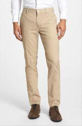 Commerce de gros adaptées OEM Mettre en place de coton lavé Men's Chino pantalon