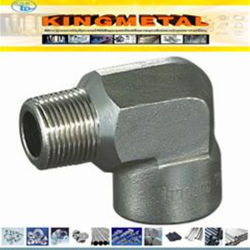 La norme ANSI B16.11 A105 forgée en acier au carbone 90 degré mâle/femelle du coude