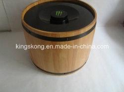 Emballage de grains de café Boite à bois, seau à glace en bois