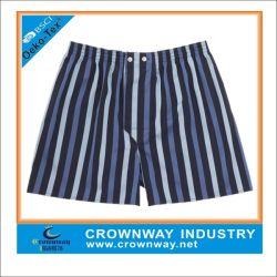 Tela de algodón corto Underwearwith boxeadores Strip Partern diseño