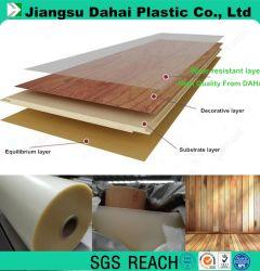 Fournisseur d'usine réel film PVC étanche pour Lvt //Antiwear-de-chaussée /de la couche d'usure 0.36mm