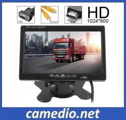 7 polegadas VGA HDMI HD Ecrã TFT a cores do monitor de LCD do carro