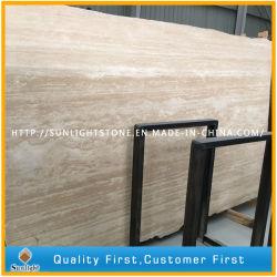 Pietra beige naturale per le mattonelle di Foor, pietra per lastricati del marmo del travertino