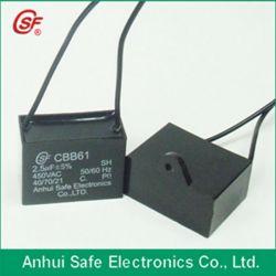Белый пластиковый круглый случае Cbb61 35ОФ 250V конденсатор