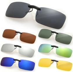 Clip polarizzata donne degli uomini sui vetri di Sun degli occhiali da sole che guidano l'Anti-UVA Anti-UVB obiettivo unisex di visione notturna