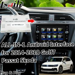 Plug&Play All-in-One Android el sistema de navegación GPS para VW Golf 7 Passat Tiguan Skoda, etc., con actualización en línea, Youtube