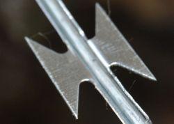 Bto 22 450mm de diamètre galvanisé la lame de rasoir sur le fil de fer barbelé concertina