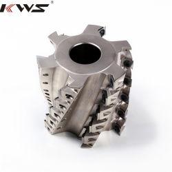 Kwsの木工業のツールの合金によってひっくり返される螺旋形の切断の木製のカッターヘッドTctの螺線形のプレーナーのカッター