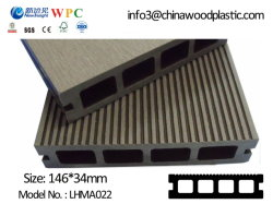 Venda por grosso de madeira deck composto de plástico impermeável WPC Piso Jardim Exterior