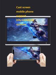12,5 polegadas 2.5D HD de vidro automóvel Android player de vídeo Monitor-de-cabeça