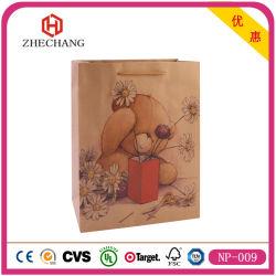Commerce de gros personnalisé de haute qualité Sac en papier kraft, sac de cadeaux