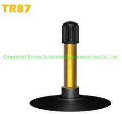 De alta calidad directamente de fábrica de accesorios de auto moto y bicicleta de la válvula de tubo neumático interior Tr87 con la Base de goma butilo